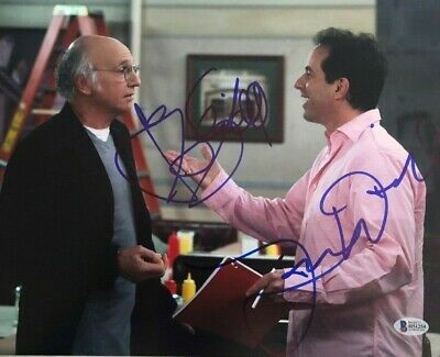 Larry David Jerry Seinfeld signed autographed 11x14 photo COA BECKETT