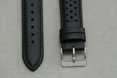 20mm racing watch band / Rally watch band / vintage perforated watch bracelet