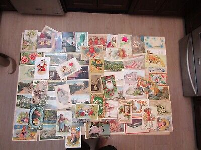 Lot Of VINTAGE Antique  MISC  POST CARDS -first  2 Photos Table Covered Twice