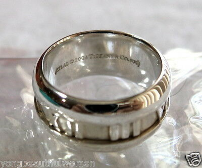New Authentic Tiffany & Co. Atlas Sterling Silver 925 Ring Size 6~6.5 (Eu 54)