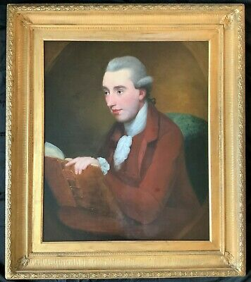 CIRCLE OF SIR JOSHUA REYNOLDS - LARGE SUPERB 18th CENTURY OIL PORTRAIT PAINTING