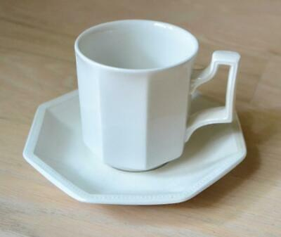 Johnson Brothers Heritage White Coffee Cup and Saucer