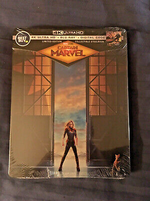 Captain Marvel Best Buy SteelBook 4k Ultra HD+Blu-ray+Digital NEW-SEALED