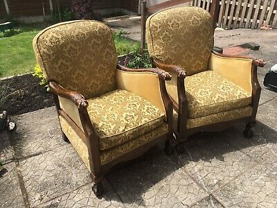 Antique Armchair Pair 1890 Bedroom Chair French Armchair Ornate Armchair Pair