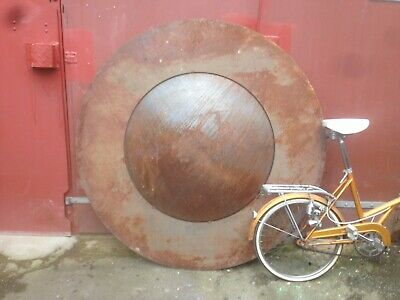 Arcitectural Salvage Art Piece. Large Steel Dome With Rim. Diameter 1500mm