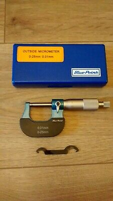 BLUEPOINT BY SNAP-ON 0-25mm PRECISION MICROMETER!!