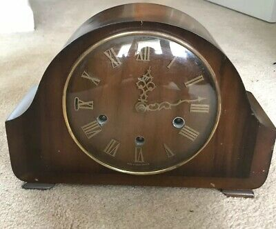Smiths 8 Day Westminster Chime Mantle Clock. All Original Parts. No Key.