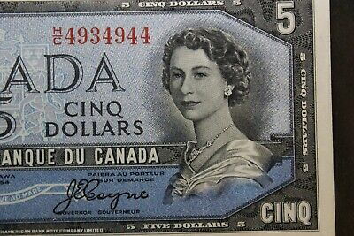 BANK OF CANADA $5 FIVE DOLLARS BC-31b DEVIL'S FACE EF45