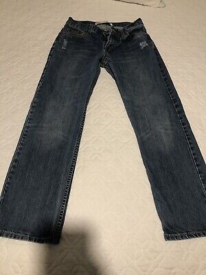 Levi Strauss Boys Mens 514 Straight Blue Denim Jeans Size 27x27 14 Reg