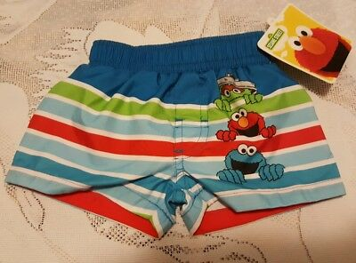 135e98e288 Sesame Street Newborn Infant Baby Boy Swim Trunks 3-6 Months Elmo Cookie  Monster
