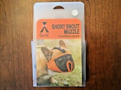Canine Friendly Short Snout Dog Muzzle Charcoal Size SMALL - New In Package