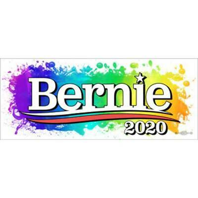 Bernie Sanders 2020 For President Multi Color Background Bumper Sticker Decal