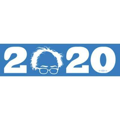 Bernie Sanders 2020 For President Blue Cartoon Glasses Bumper Sticker Decal