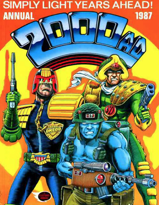 2000 AD UK Comic Annual 1987 Vintage (hardcover) 95 pages