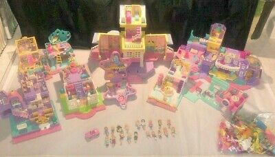 Vintage Large Lot 90's of Polly Pocket Bluebird Good Assortment Dolls Playsets