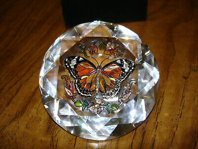 Amia Studio hand painted Monarch butterfly glass diamond sun catcher paperwright