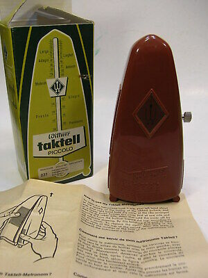 MIOB WITTNER (W. Germany) TAKTELL PICCOLO METRONOME #831 in Mahogany Brown