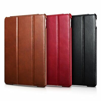 ICARER GENUINE LEATHER Folio Case Cover Back Skin for