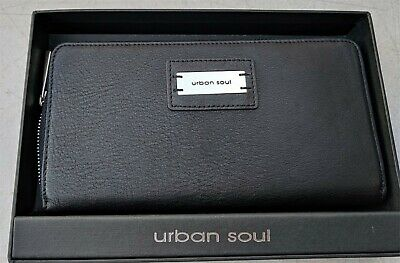 Rfid Secure Urban Soul Genuine Leather Purse Wallet Datashield Ladies Black