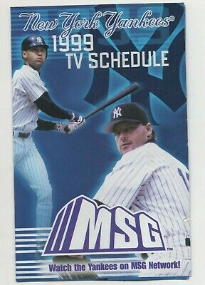 New York Yankees Schedule - Lot Of Three -  Derek Jeter / Roger Clemens / Arod