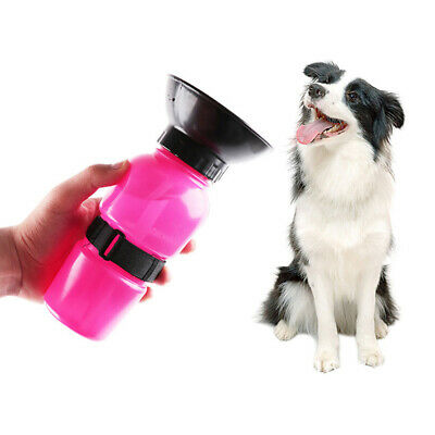 Portable 500ml Dog Drinking Outdoor Travel Water Bottle Pets Puppy/Cat Feed Bowl