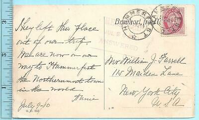 9/10/1910 Hammerfest Norway The Road to Hell postcard Wm Farrell NY