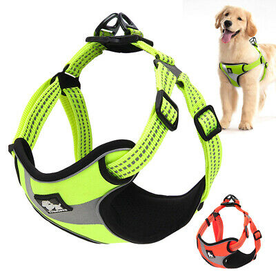 Truelove No Pull Small Large Dog Harness Reflective Vest Rottweiler Dobermans
