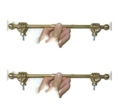 2 vintage style FIST hand towell solid brass hang door solid rail rod 38 cm 15 B