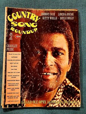 Vtg Lot of 4 Country Song Roundup Mags Johnny Paycheck Dolly Guitar World Player