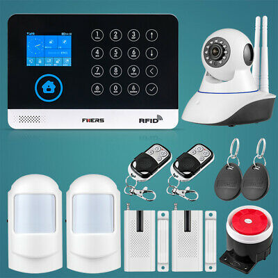 Wireless WIFI GSM Home Security Anti-theft Alarm System Touch Keyboard IP Camera