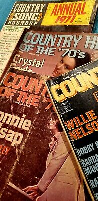 Vtg Lot of 4 Country Song Roundup Mag Willie Nelson Guitar Player World Tab Book