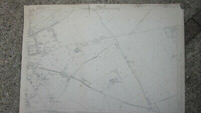 1:2500 Ordnance Survey Map East Of Andover Bere Hill 1937 Revision