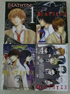 Death Note : Deathtix 1 - 4 Complete Set in Japanese Yaoi Parody Comic Anthology