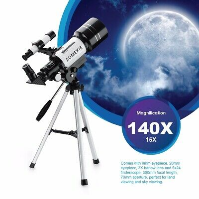 30070 Telescope with Compact Tripod for Beginner 15-140X Moon Watching Kids Gift
