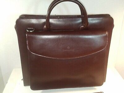 Samsonite Burgundy Bonded Leather Zippered Binder/Portfolio Portfolio #950142