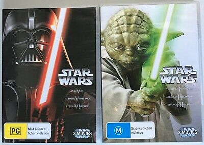 STAR WARS Prequel & Original Trilogy (I II III IV V VI) DVD Region 4 PAL