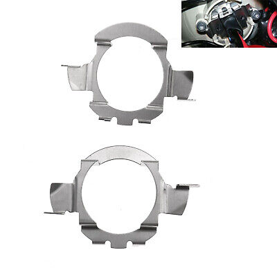 2x H7 LED Headlight Bulb Adapters Holders For Mercedes-Benz BMW 5 Series Audi A3
