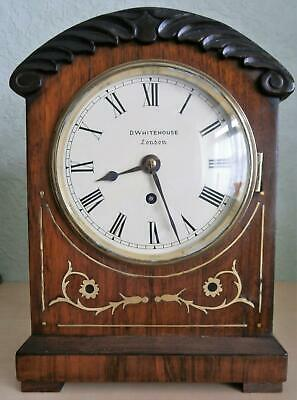 Victorian Brass Inlaid Rosewood Single Fusee Bracket Clock G.W.O.