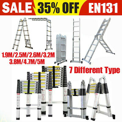 Portable Heavy Duty Multi-Purpose Aluminium Telescopic Folding Ladder Extendable