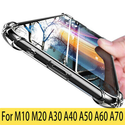 For Samsung Galaxy A50 A30 A20 A10 Shockproof Clear Soft TPU Slim Case Cover Yc