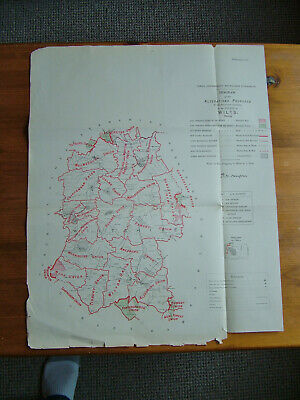 Rare - WILTSHIRE Antique Ordnance Survey Map 1888. Robert Owen Jones