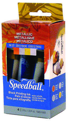 Speedball Metallic Block Printing Ink Set