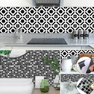 Moroccan Style Mosaic Tile Stickers Wall Decals for Kitchen Bathroom Countertop