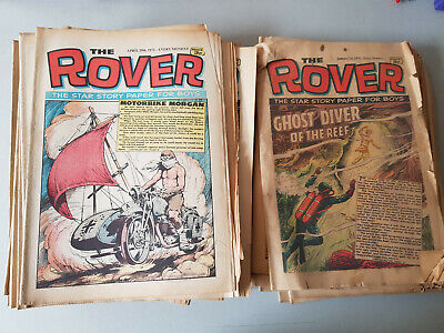 ROVER COMIC - complete year of 52 issues for 1972