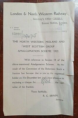 1923 London & North Western Railway, Euston Station, London Letter