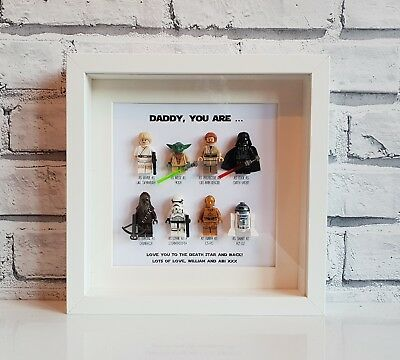 Star Wars Mini Figure Frame (Daddy | Dad | Personalised | Fathers Day | Lego)