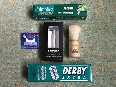 DE/double-edge wet shave gear (Parker, Semogue, Derby, Palmolive, RazoRock) BNIB