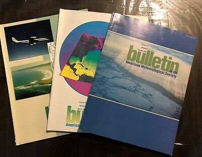 Lot of 3 Bulletin of the American Meteorological Society: Feb, March, April 1998
