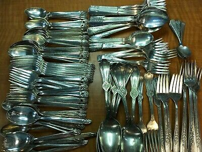 110+  Pc Lot  Antique to Vintage Flatware Mix  Forks Spoons CRAFT or USE