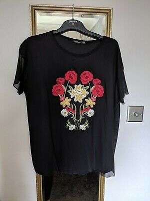 Boohoo Maternity Top Size 12 Beautiful Embroidered Detail